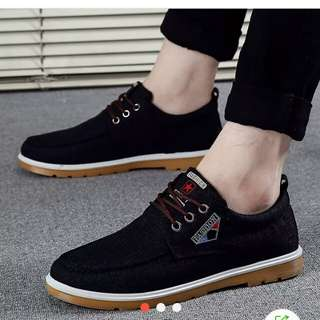 men patent leather peas casual shoes