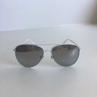 Burberry Mirror Aviator Sunglasses