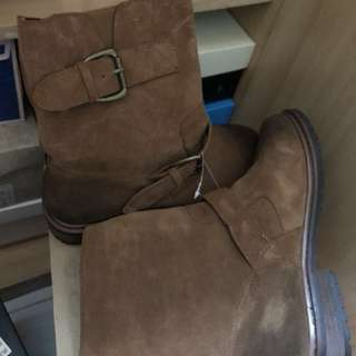 Log-on real leather boots