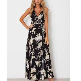 floral maxi dress for ladies