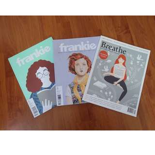 Frankie & Breathe Magazines (all 3 for $10)
