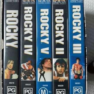 Rocky Video Box set
