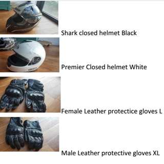 Helmets And Gloves