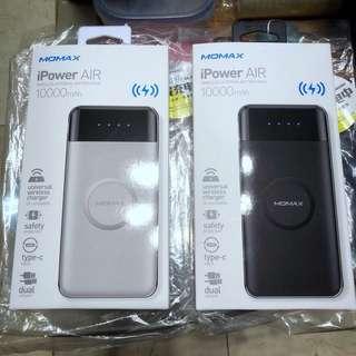 Momax iPower Air 無線充電移動電源 白色
