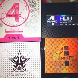 Super junior 4minute blockb 舊 專輯 淨專 韓星 小卡