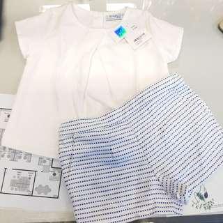 (NEW with tag) Gingersnaps set atasan & celana pendek