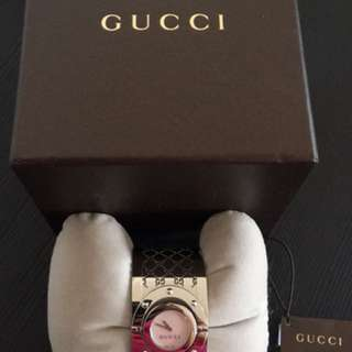 Authentic Gucci twirl bangle watch