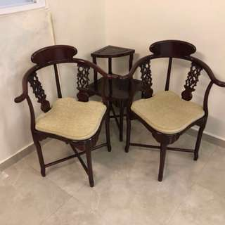 Antique Chair and Table Set