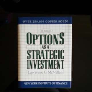 Options as a strategic investment book