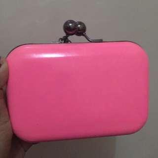 clutch pink stabilo tas pesta