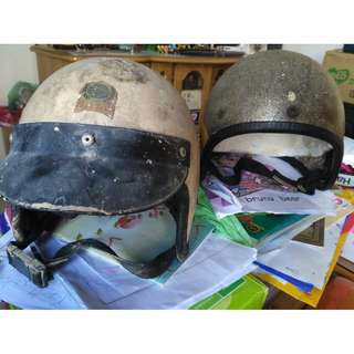 Vintage 2 Mazura Kopi Metalflake Fiberglass Helmet