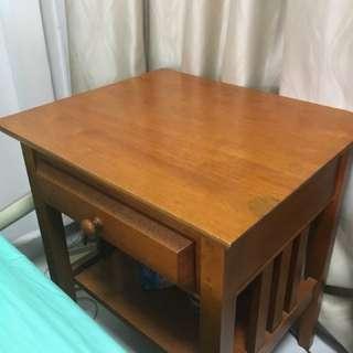Teak bedside table