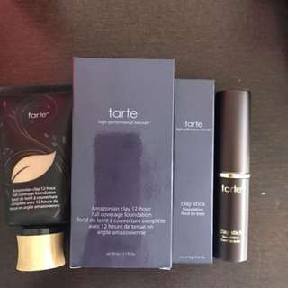 BRAND NEW tarte Amazonian clay 12 hour and stick foundations