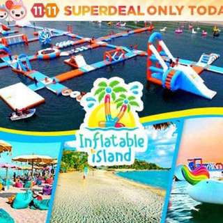 Half-Day Pass for 2 Persons at Inflatable Island Zambales