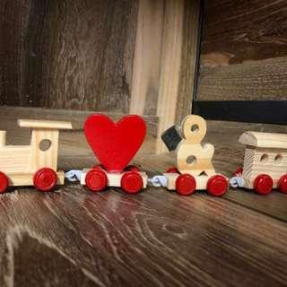 Wooden Symbol Train