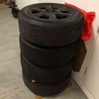 "Audi 16"" factory rims and tyres"