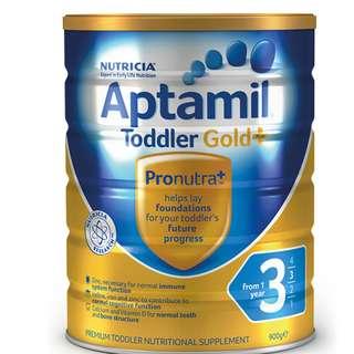 Aptamil Stage 3 Milk Powder (1 tin) 900g