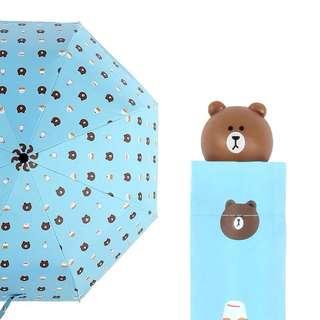 LINE Brown bear umbrella
