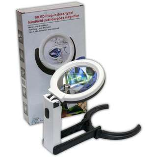 Table Magnifying Glass with LED light