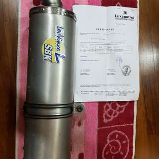 Leo Vince exhaust pipe with cert