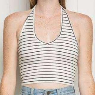 Brandy Melville Striped Halterneck Top