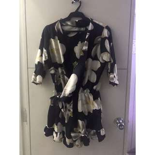 D&G Inspired Floral Playsuit