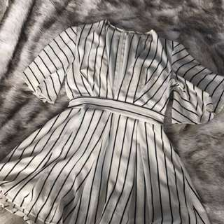 Peppermayo striped playsuit