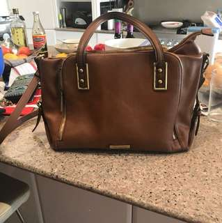 Authentic Tony Bianco brown leather bag