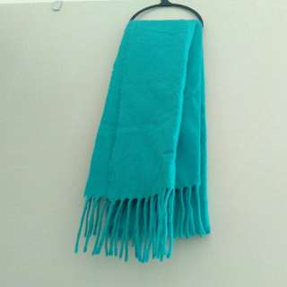 Woven scarf blue-green