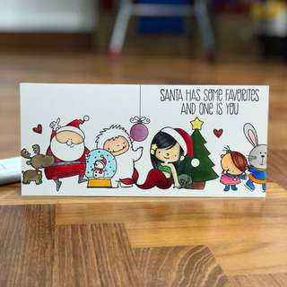 Christmas card - Santa has some favorites and one is you!