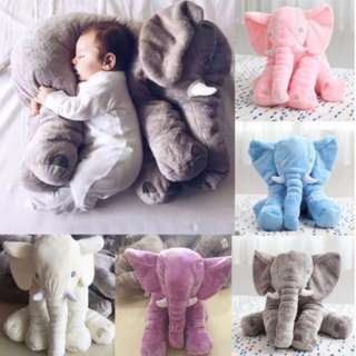 60cm Big Size! Stuffed Cushion Kids Baby Sleeping Pillow Toy Elephant #nyb50