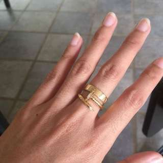 Catier Inspired Gold Ring