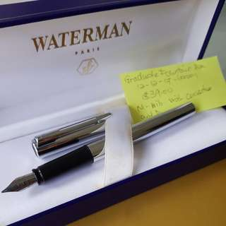 Fountain Pen Waterman Chome with M nib and Box