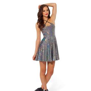 Black Milk shattered crystal reversible strap dress XS