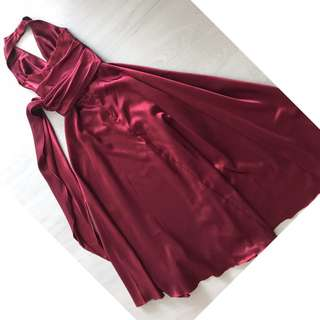 Cheap Evening Gown/Prom Dress (Burgundy/Wine Colour)