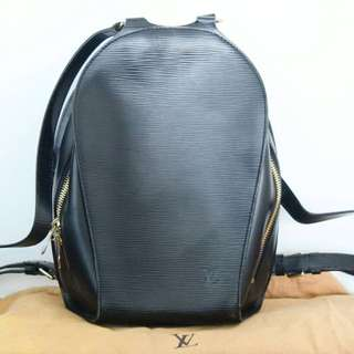 Louis Vuitton Mabillon Black Epi Backpack