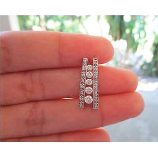 .58 Carat Diamond White Gold Pendant 14k