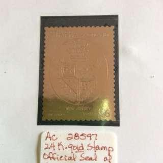 紐澤西州24K金郵票,不收藏了!讓給有緣人!