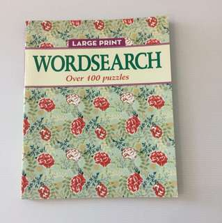 🔎 Large Print WORDSEARCH