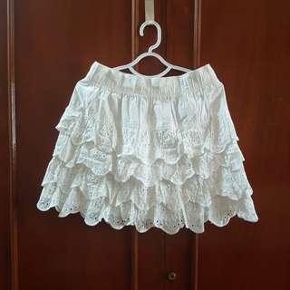 Kamiseta White Frou Skirt