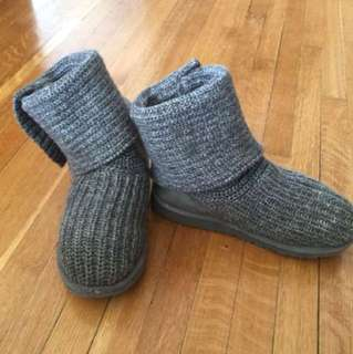 Authentic Grey Knit uggs