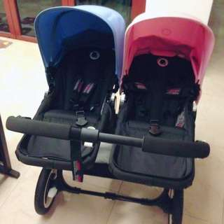 Bugaboo Donkey Duo with black Chassis