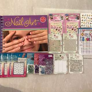 Nail art set - 30+ sheets in total