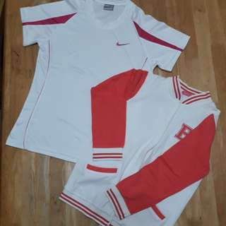 Varsity jacket&Nike tshirt