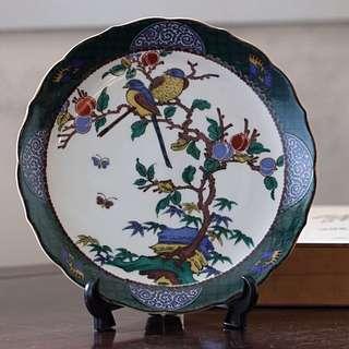日本九谷燒裝飾皿