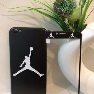 Jordan 2 in 1 case with tempered glass
