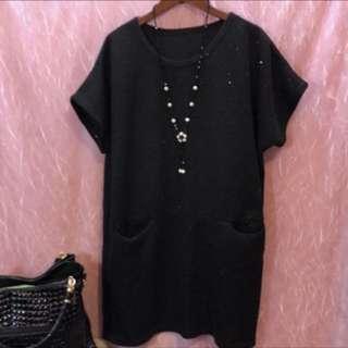 黑色亮片造型上衣