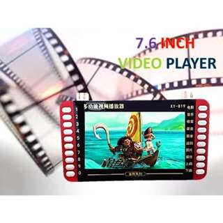MP4 MP3 Portable Video Player Learning Education Kids Rechargeable 7.6 Inch