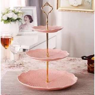 3 Tier Dessert Cupcakes Cake Stand in Pink