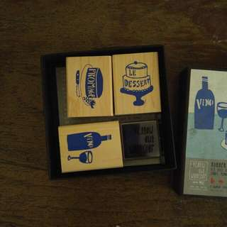 French Rubber Stamp Activity Set